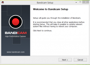 Bandicam Installation Step 1