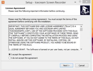 Icecream Screen Recorder installation step 1