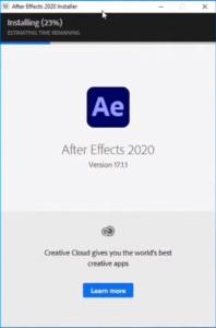 Adobe After Effect Installation Step 2