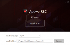 Apower screen Recorder 1st Step