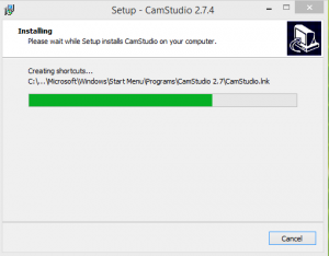 Cam Studio Installation Final Step