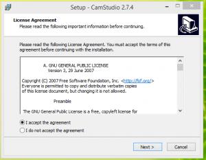 Cam Studio Installation Step 1