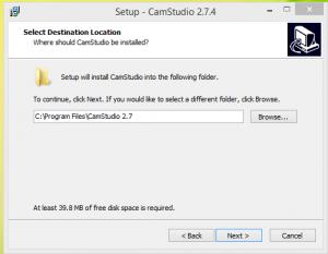 Cam Studio Installation Step 2