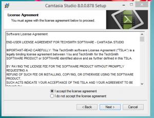 Camtersia Installation Step 2