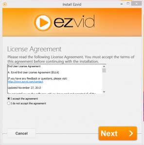 ezVid Installation Step 1