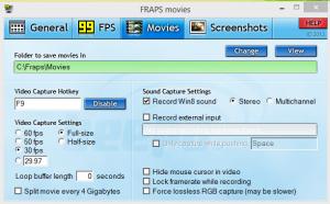 Fraps Screen Recording
