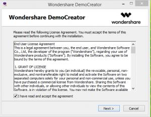 Wonder share Democreator step 1
