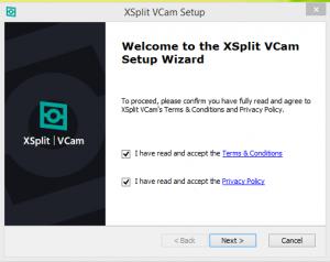 Xsplit VCam Installation Step 2