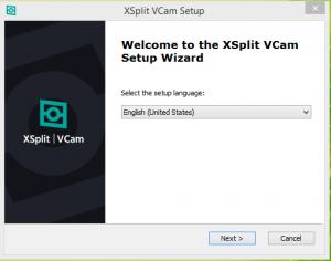 Xsplit VCam Screen Recorder Step 1