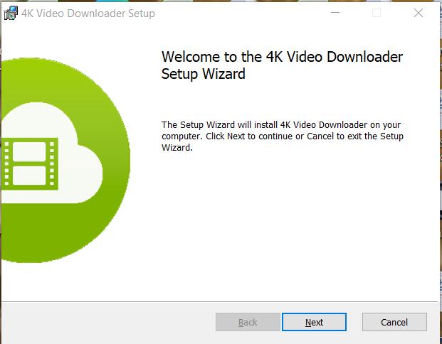 4K Video Downloader Installation Step 1