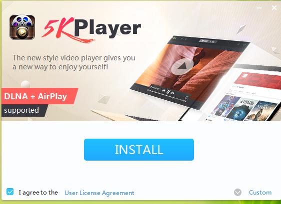 5K Player Installation Step 1