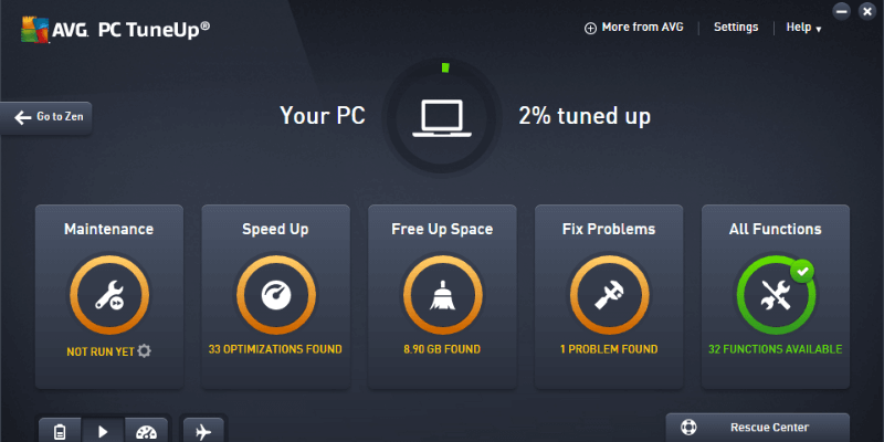 AVG TuneUp Software Cleaner