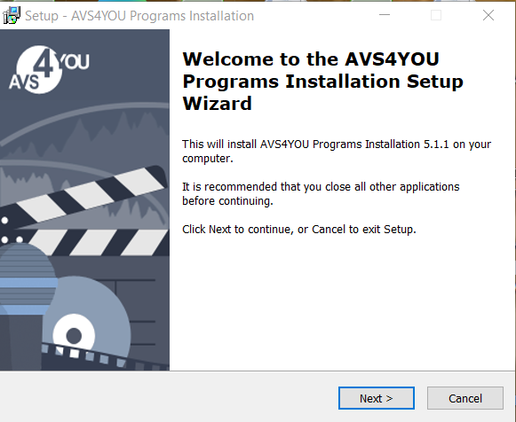 AVS Video Converter Installation Step 1