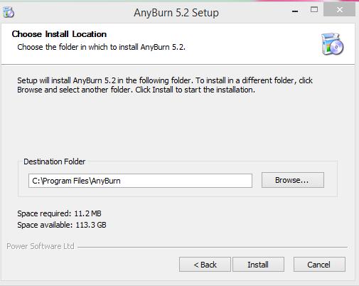 AnyBurn Installation Step 2