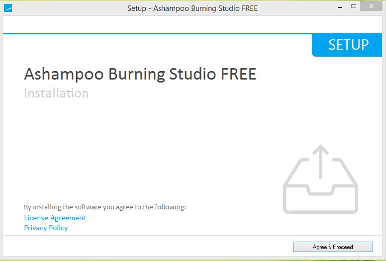 Ashampoo Burning Studio Installation Step 1