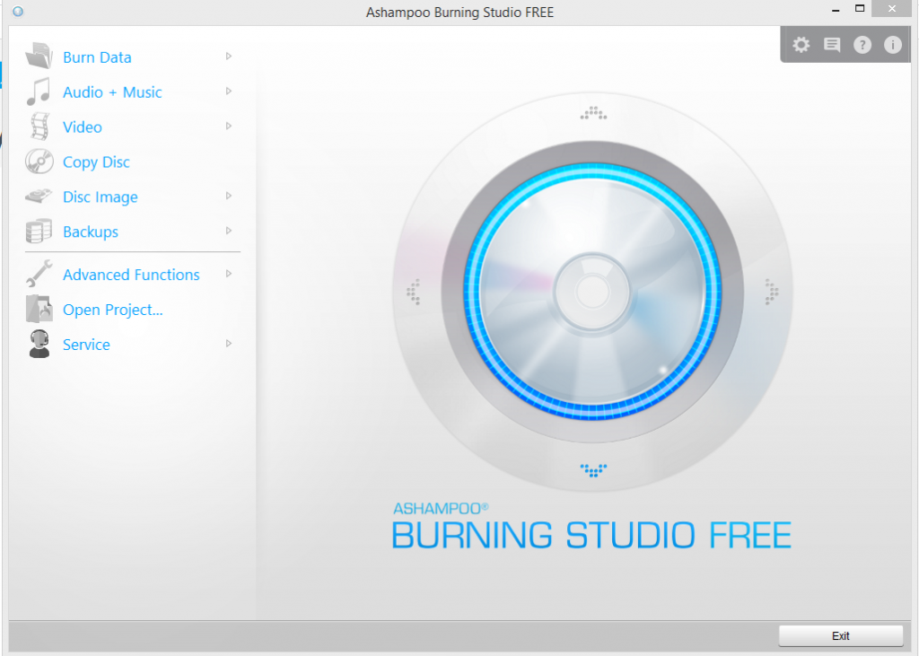 Ashampoo Burning Studio interface
