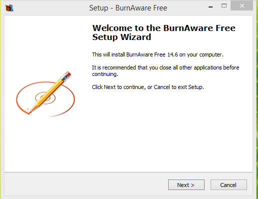 BurnAware Installtion Step 1