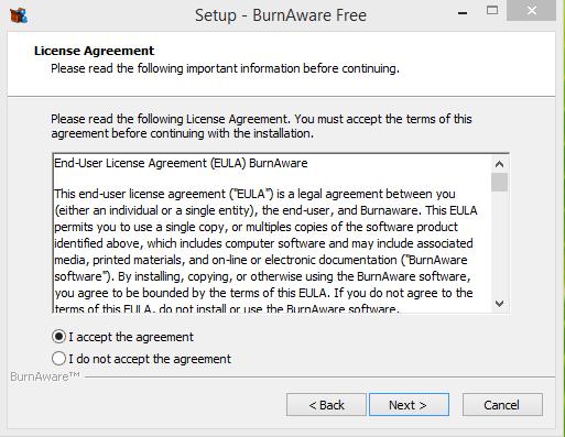 BurnAware Installtion Step 2