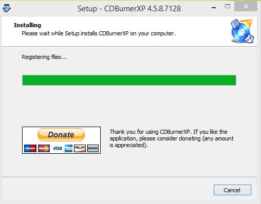 CD Burnber XP Installation