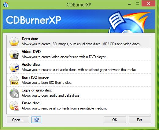 CD Burnber XP Insterface