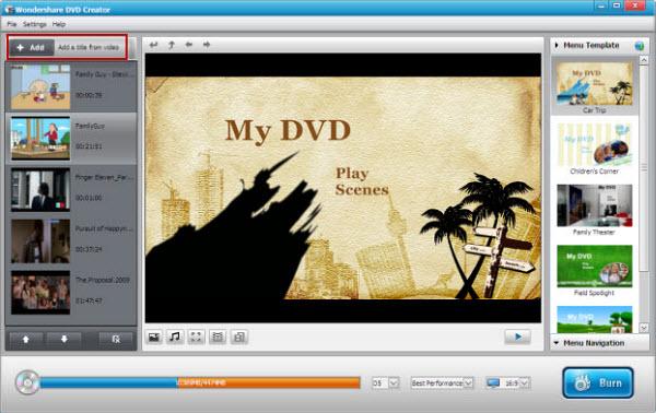 DVD Creator for Windows To Burn DVD