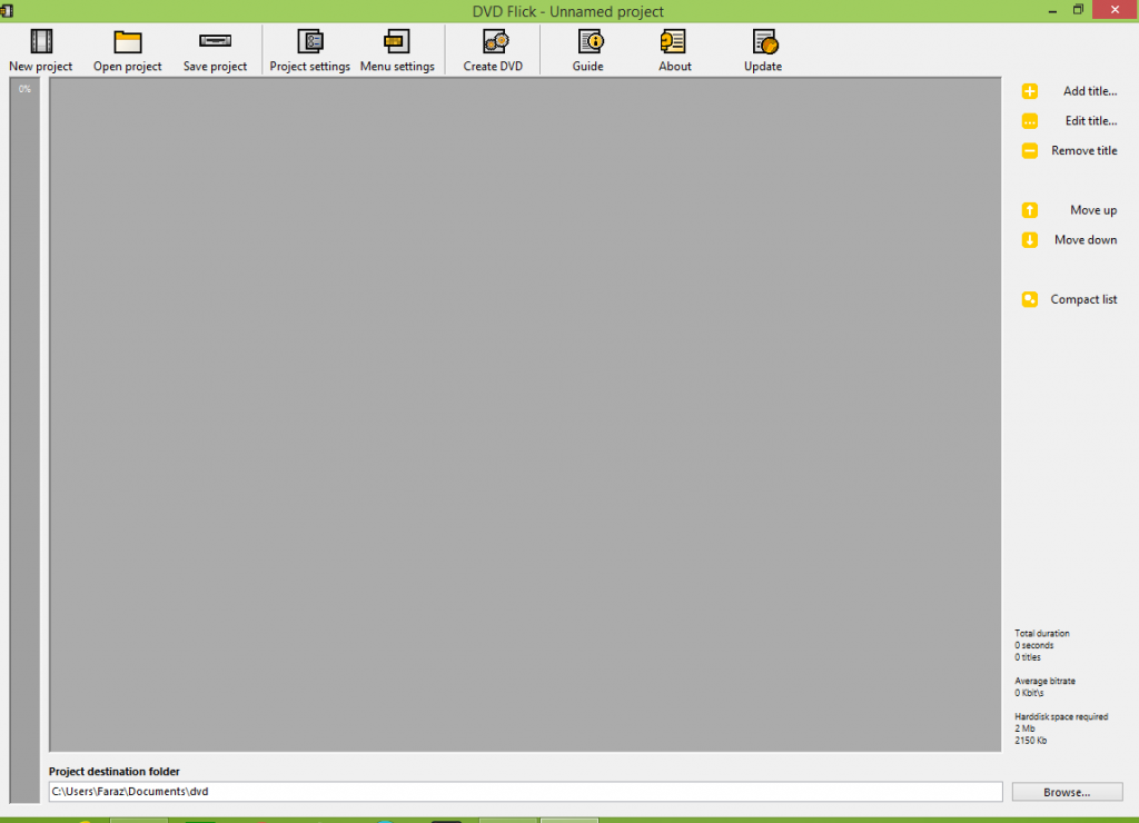 DVD Flick Interface
