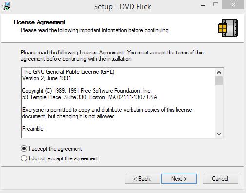 DVD Flick Intsallation Step 2