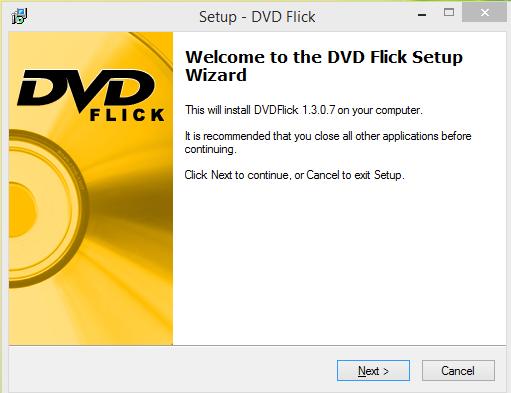DVD Flick Intsallation step 1