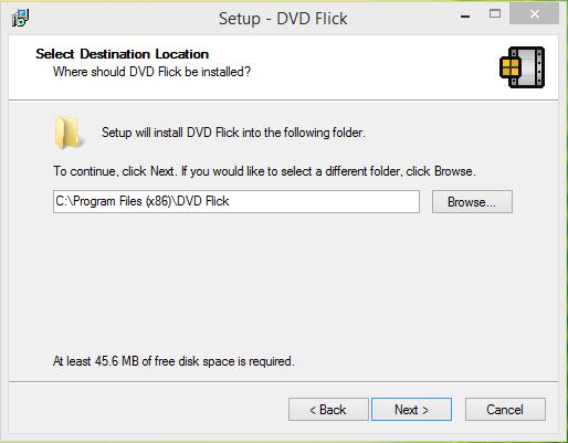 DVD Flick Intsallation step 3
