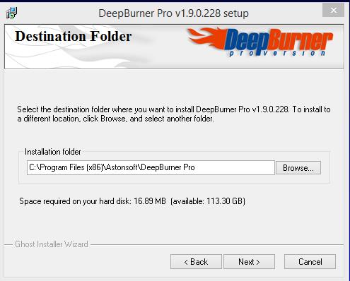 DeepBurner Installation Step 3