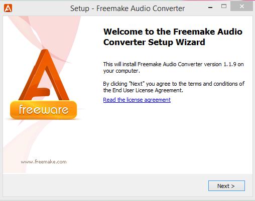 Freemake Installation Step 1