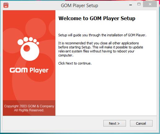 GOM Player Installation Step 1