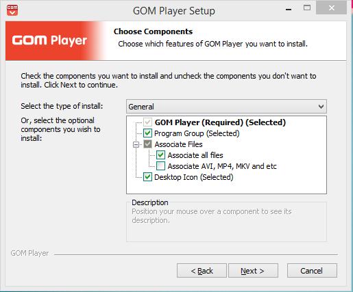 GOM Player Installation Step 3