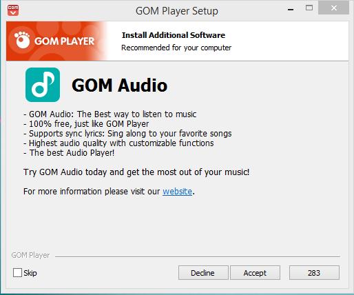 GOM Player Installation Step 6