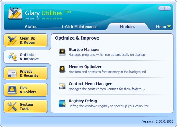 Glary Utilities Cleaner Software