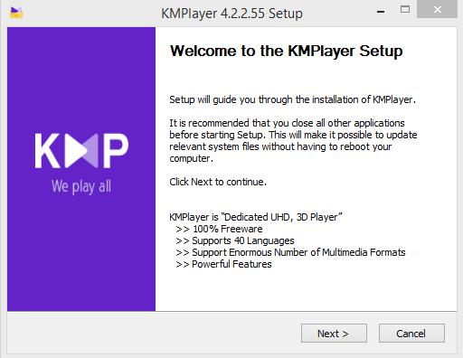 KMPlayer Installation Step 1