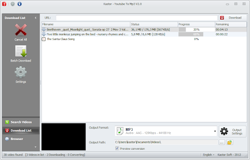 Kastor All Video Downloader Software Image