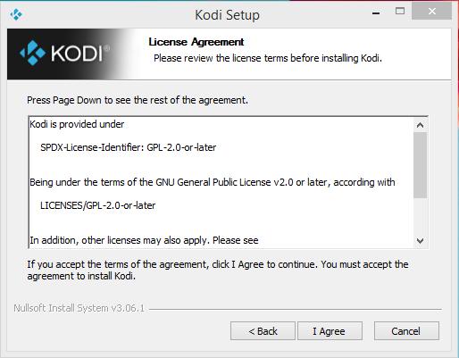 Kodi Player Installation Step 1