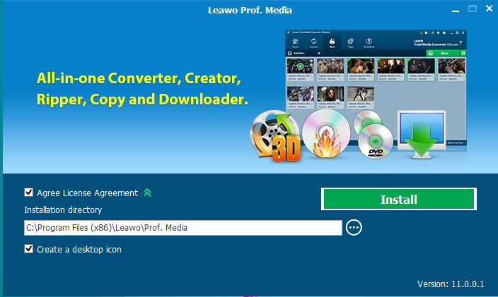 Leawo DVD Creater Installation Step 1