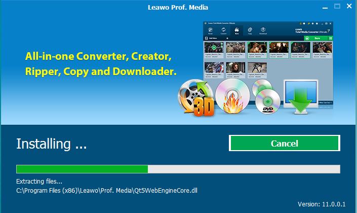 Leawo DVD Creater Installation Step 2