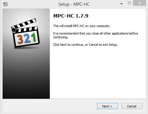 Media Player Classic Installation Step 1