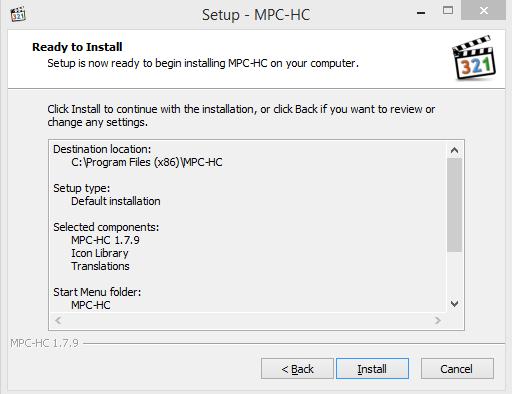 Media Player Classic Installation Step 6