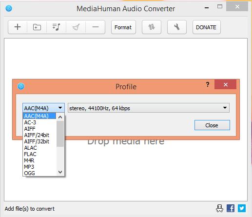 MediaHuman Audio Formats