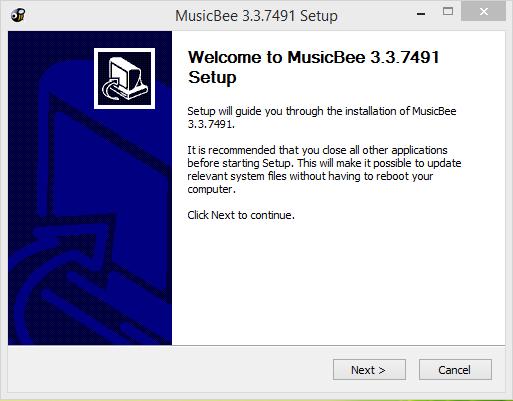 MusicBee Player Installation Step 1