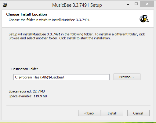 MusicBee Player Installation Step 3