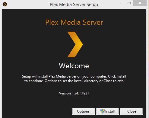 Plex Media Player Installation Step 1