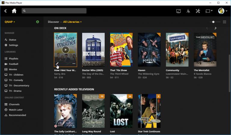 Plex Media Player Interface one