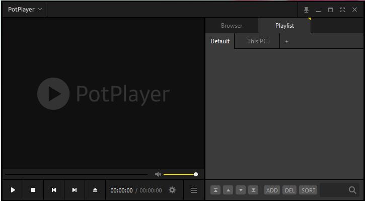 PotPlayer Insterface