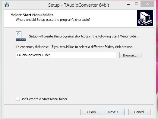 TAudio converter Installatio Step 5