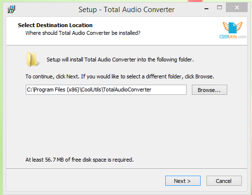 Total Audio Converter Installation Step 1